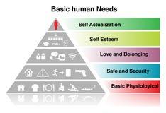 Basic. Human Need sign. on white Stock Photos