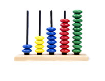 Basic Abacus. For beginner mathematician Royalty Free Stock Photography