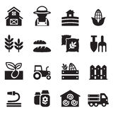 Basic Agriculture and Farming icons set Stock Images