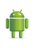 Basic Android robot illustration Stock Photos