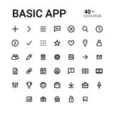 Basic app icon set Stock Photos