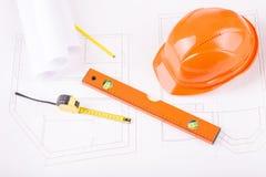 Basic architect professional kit Royalty Free Stock Photography