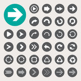 Basic arrow sign icons set Stock Images