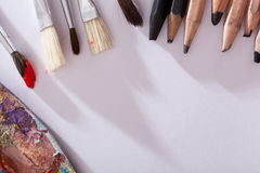 Basic art materials Stock Photography