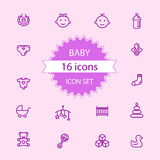 Basic - Baby icon set 16 icons Stock Photography