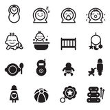 Basic Baby icons Royalty Free Stock Images
