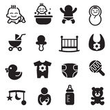 Basic Baby icons set Stock Photos