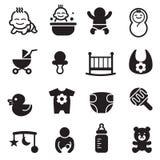 Basic Baby icons Royalty Free Stock Photo