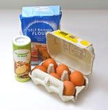 Basic Baking Ingredients Royalty Free Stock Photos