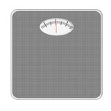 Basic bathroom scale, scales. Grey. Isolated on white. Photo rea Royalty Free Stock Photo