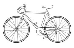 Basic Bicycle. Simple white speed bike illustration Vector Illustration