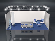 Basic blank fair stand. Blank fair stand with lighting truss construction above, add your own design stock illustration