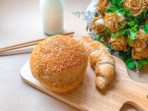 Milk bread royalty free stock images