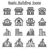 Basic Building icon set Royalty Free Stock Photography