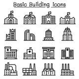 Basic building icon Stock Photography