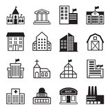 Basic Building icons Stock Images