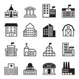 Basic Building icons Set Royalty Free Stock Photography