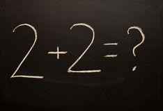 Basic Calculations Royalty Free Stock Photo