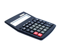 Basic calculator. Number and basic function calculator on white background royalty free stock photo