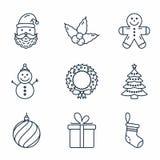 Basic Christmas Icons Stock Image