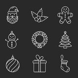 Basic Christmas Icons Stock Photos