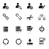 Basic - Classic Web Icons. 16 classic web icons set Royalty Free Stock Photography