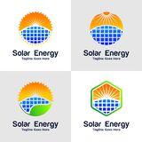 Collection Of Solar Energy Logo royalty free illustration