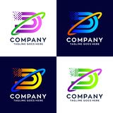 Collection Of Letter D Logo Design Template royalty free illustration