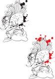 Basic CMYK. Angry santa claus cartoon illustration Royalty Free Stock Images