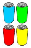 Basic color cans Stock Images