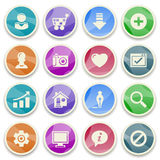 Basic color icons. Royalty Free Stock Image