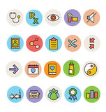 Basic Colored Vector Icons 6 Stock Photography