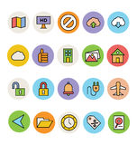 Basic Colored Vector Icons 13 Royalty Free Stock Photos