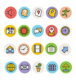 Basic Colored Vector Icons 5. Here is a pack of Basic Vector Icons. Express your creativity and kick start your graphic design projects with these  icons Stock Images