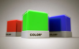 Basic colors design Stock Photos