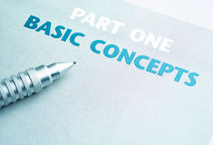 Basic concepts and First Page Royalty Free Stock Photography