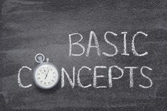 Basic concepts watch Royalty Free Stock Photos
