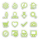 Basic contour icons. Sticker series. Stock Photography