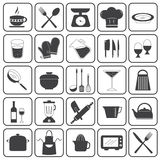 Basic Cooking Icons Vector Set Stock Photo
