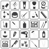 Basic Cosmetic Icons Vector Set Royalty Free Stock Image