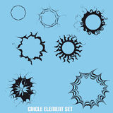 Basic Crazy Circle Elements With Abstract Royalty Free Stock Photography