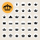 Basic Crown icons set Royalty Free Stock Image