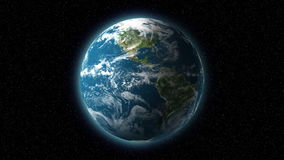 basic 3d Earth spining / globe / world stock footage