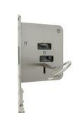 Basic door lock with key Royalty Free Stock Image
