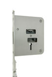Basic door lock with key Royalty Free Stock Images
