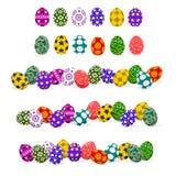 Basic Easter eggs Stock Images