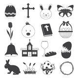 Basic Easter Icons Set Royalty Free Stock Photography