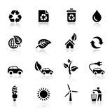 Basic - Ecological Icons. 16 ecological and recycling icons set Royalty Free Stock Images