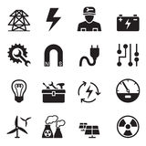 Basic Electricity icons set Stock Images