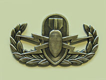 Basic EOD Badge. Basic EOD Explosive Ordnance Disposal badge or crab Royalty Free Stock Photography
